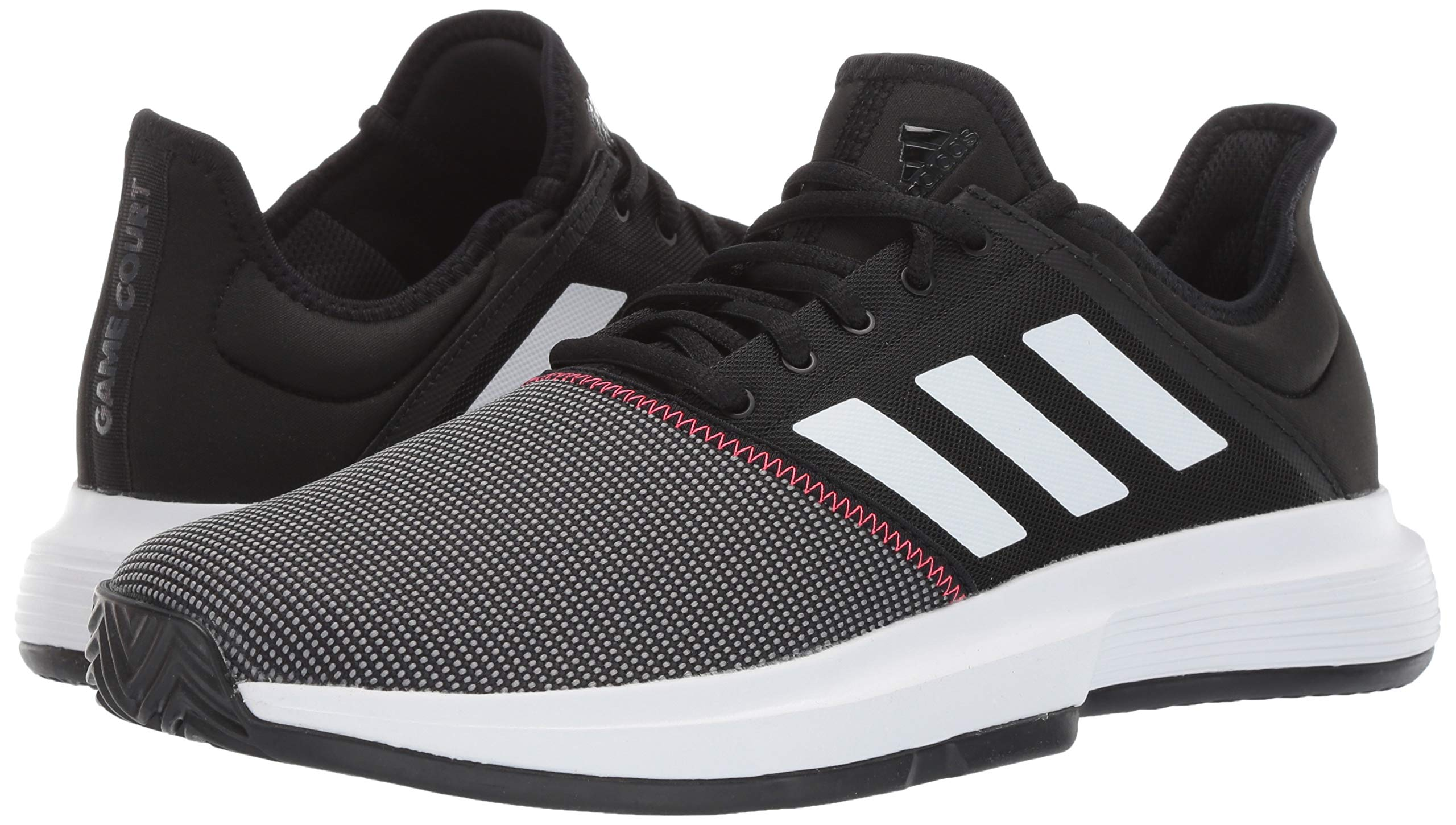 adidas Men's Gamecourt, Black/White/Shock red, 6.5 M US by adidas (Image #5)