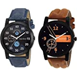 OpenDeal Analog Black Dial Men's Watch Combo(Set Of 2)