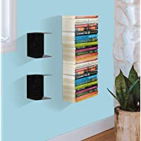 APPUCOCO Book Shelf Wall Mounted Heavy Duty Metal Invisible Book Shelves (Made in India) with Screws & Plastic Anchors Included