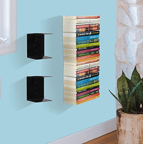 APPUCOCO Book Shelf Wall Mounted Heavy Duty Metal Invisible Book Shelves (Made in India) with�