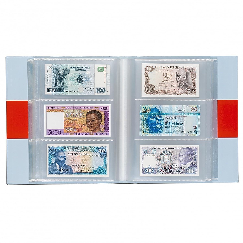 300 Banknotes Album Binder  Vario Paper Money Currency w// 100 Sheets No PVC
