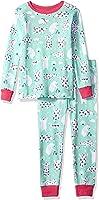 Hatley Girls' Organic Cotton Long Sleeve Printed Pajama Sets