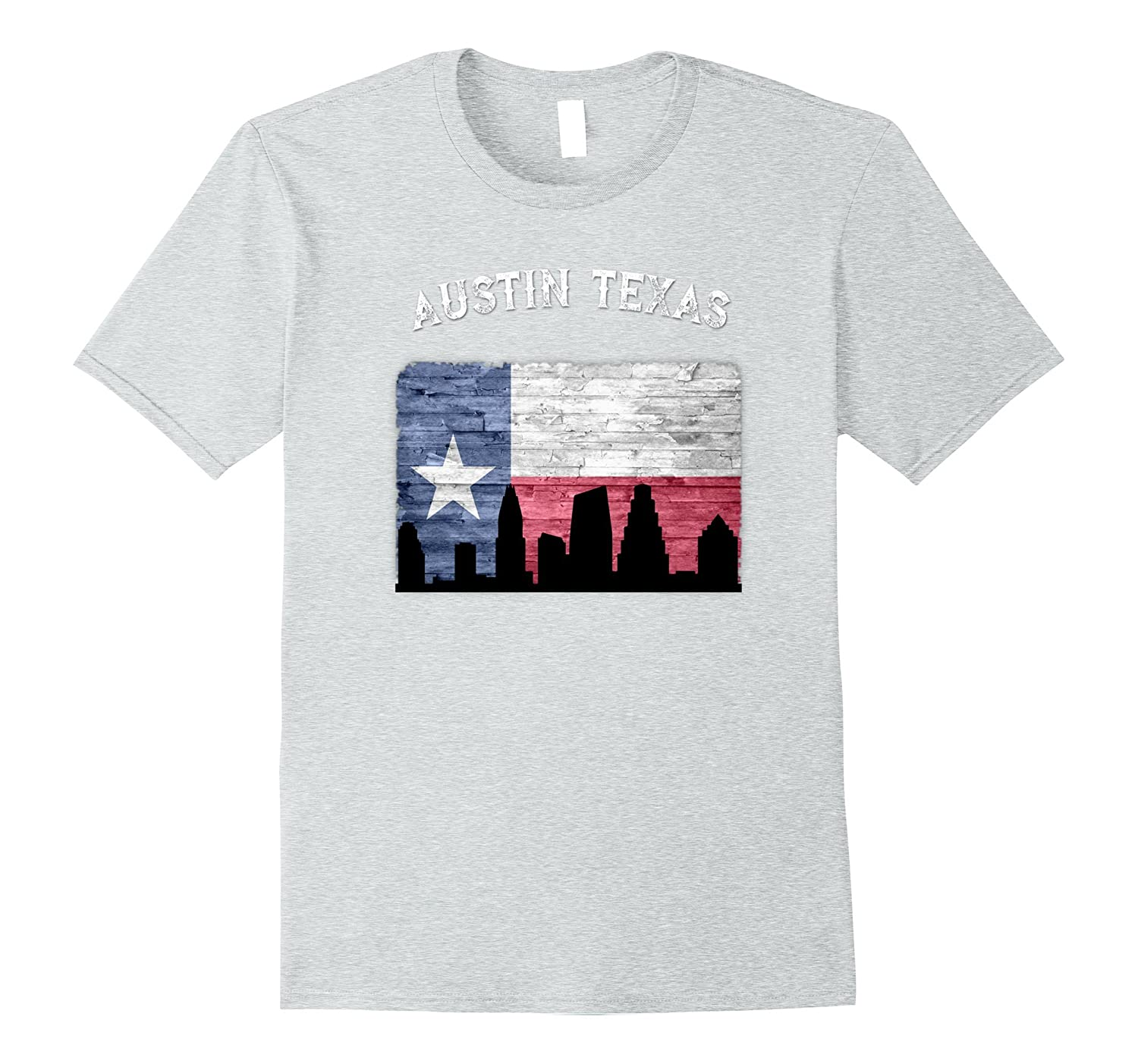 Austin Texas Flag Skyline T-Shirt