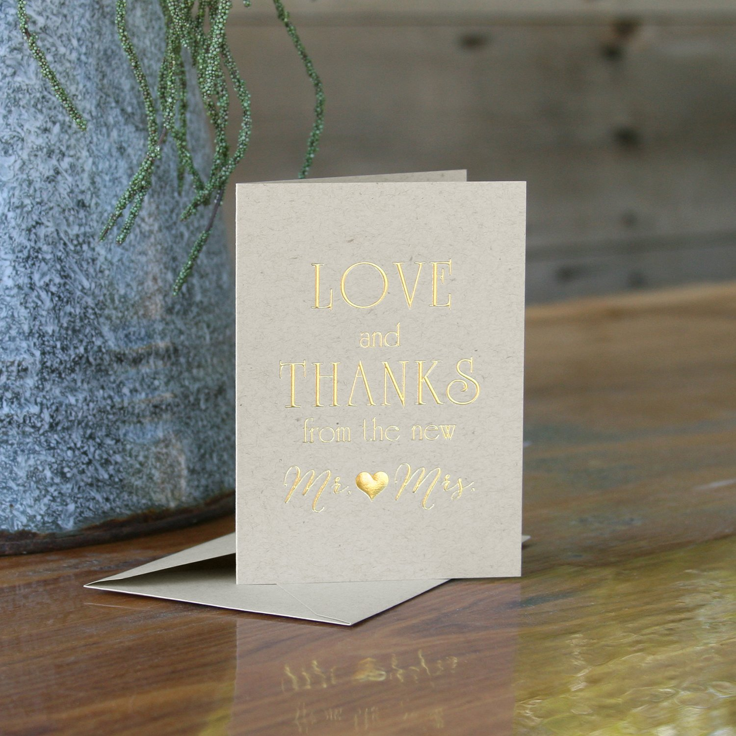 Hortense B. Hewitt 21586 love & Thanks Thank You Cards, 50Count, , Love/Thanks by Hortense B. Hewitt (Image #2)