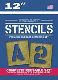 pro art painting stencil set 12 inch