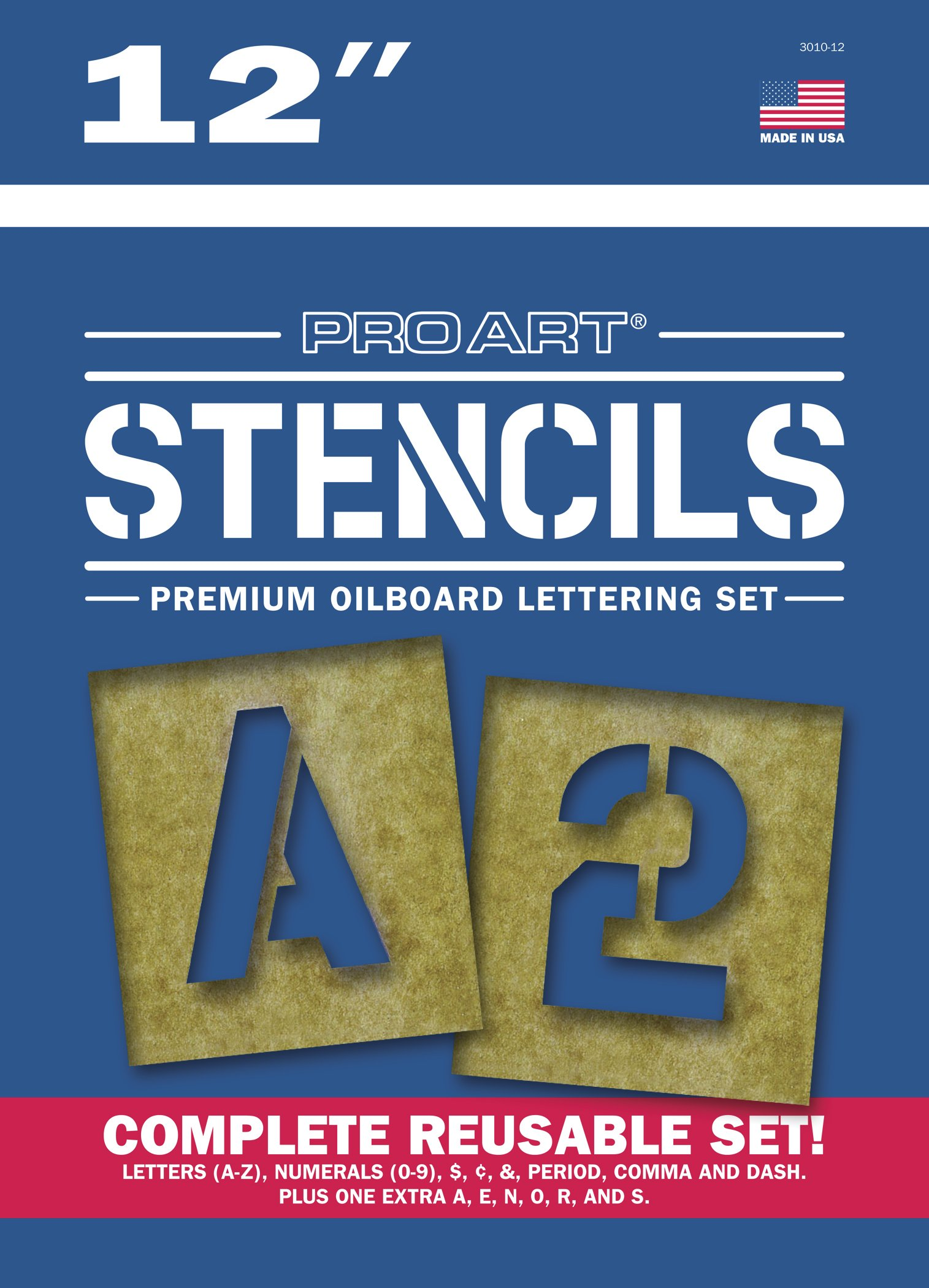 Pro Art Painting Stencil Set, 12-Inch