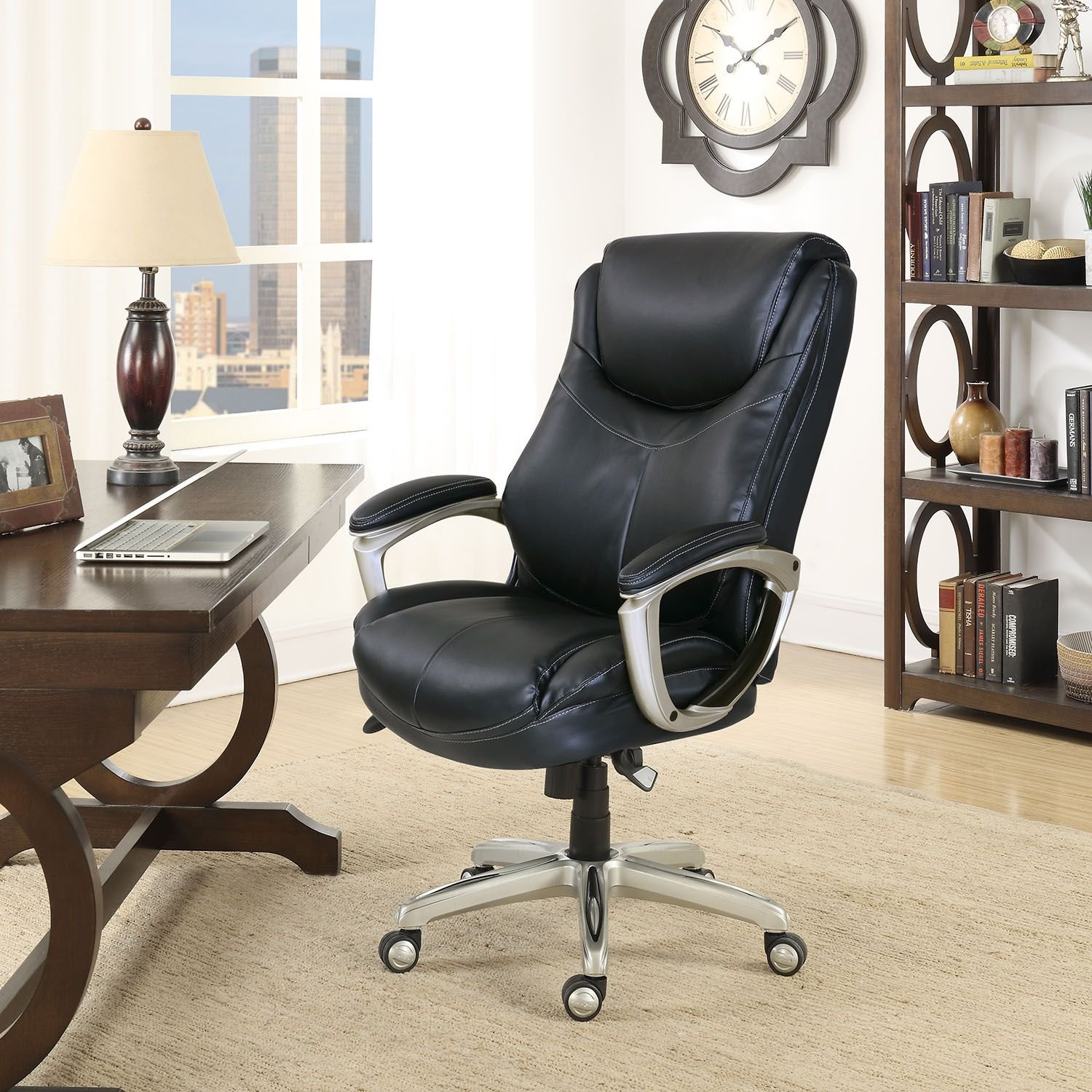 Amazon La Z Boy Desmond Big & Tall Executive Chair Black