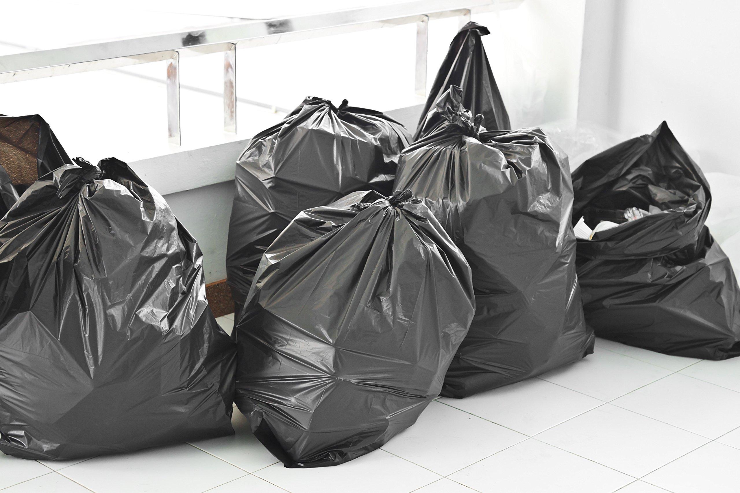 Toughbag 95 Gal Trash bags, Black, 2 Mil, 61x68, 25 Garbage Bags Per Case by ToughBag (Image #2)