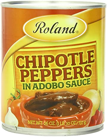 Roland Chipotle Peppers in Adobo Sauce, 26 Ounce (Pack of 4)