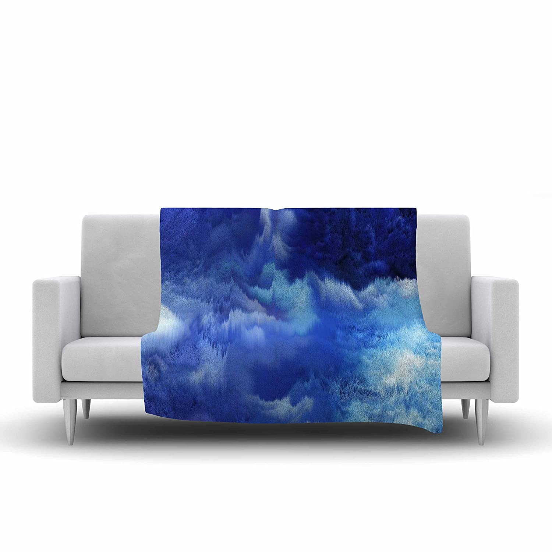 40 X 30 Kess InHouse Nina May Saltwater Collage Blue Fleece Throw Blanket 40 by 30-Inch