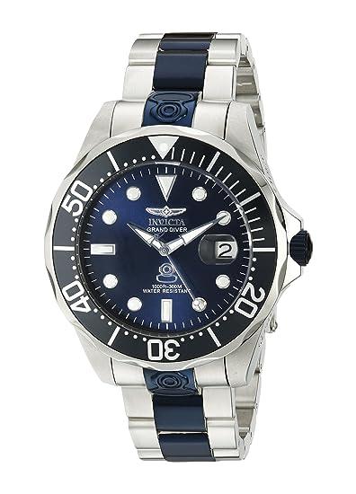 Invicta 47 mm dos tono acero pulsera y caso automático azul Dial analógico reloj 19273: Invicta: Amazon.es: Relojes