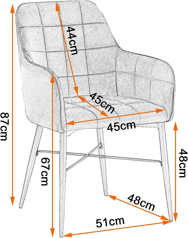 WOLTU 1 Chaise de Salle à Manger Fauteuil de Salon avec Velours Assise métal Pied,Vert Foncé BH81dgn-1 Rose