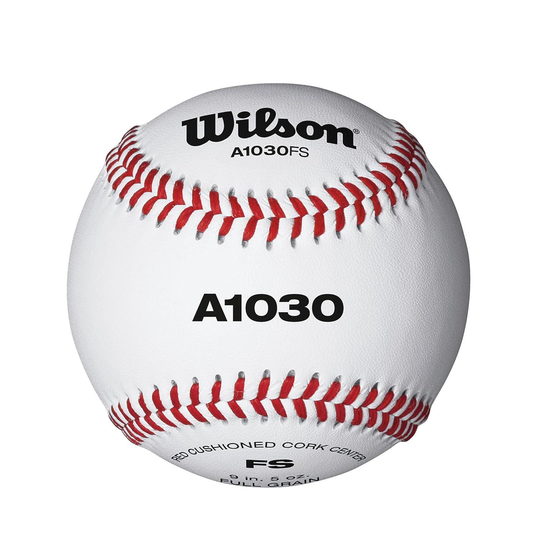 Wilson Baseballs, A1030 FLAT SEAM, 12er Pack, Weiß, WTA1030BFS Weiß WIMX4|#WILSON