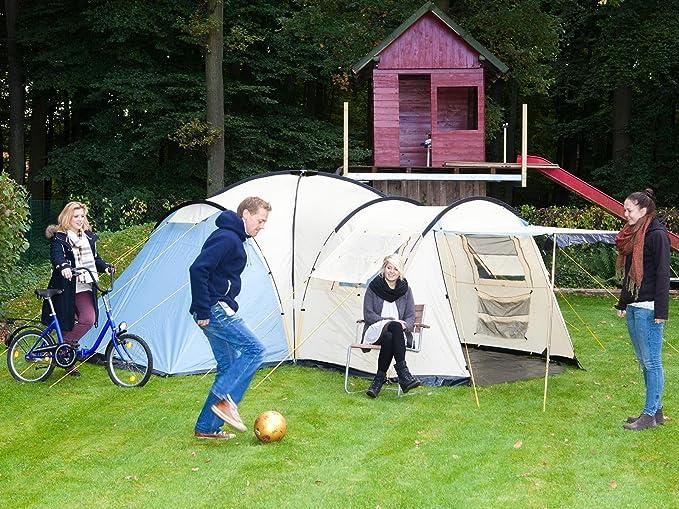Skandika Toronto 6 - Tienda de campaña, color azul/blanco, talla 520 x 590 cm: Amazon.es: Deportes y aire libre