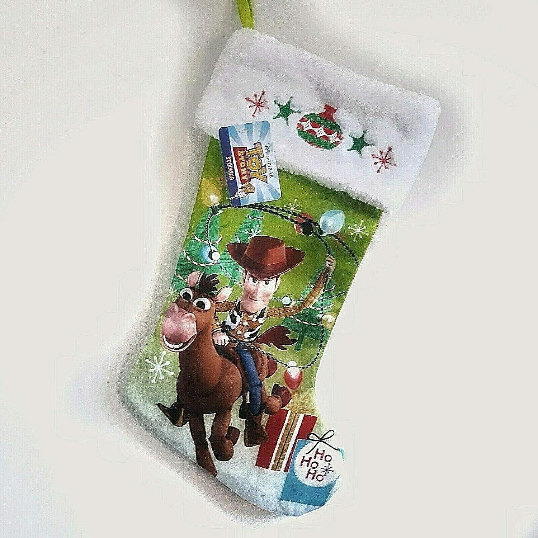 """Disney Toy Story Woody Bullseye 19/"""" Christmas Stocking"""