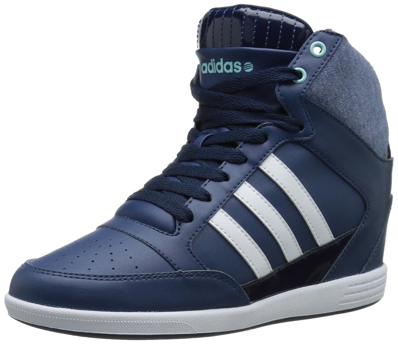 brand new 5aa02 d0595 Amazon.com | adidas NEO Women's Super Wedge W High-Top Fashion Sneaker,  Blue/ White/ Light Blue, 9.5 M US | Walking