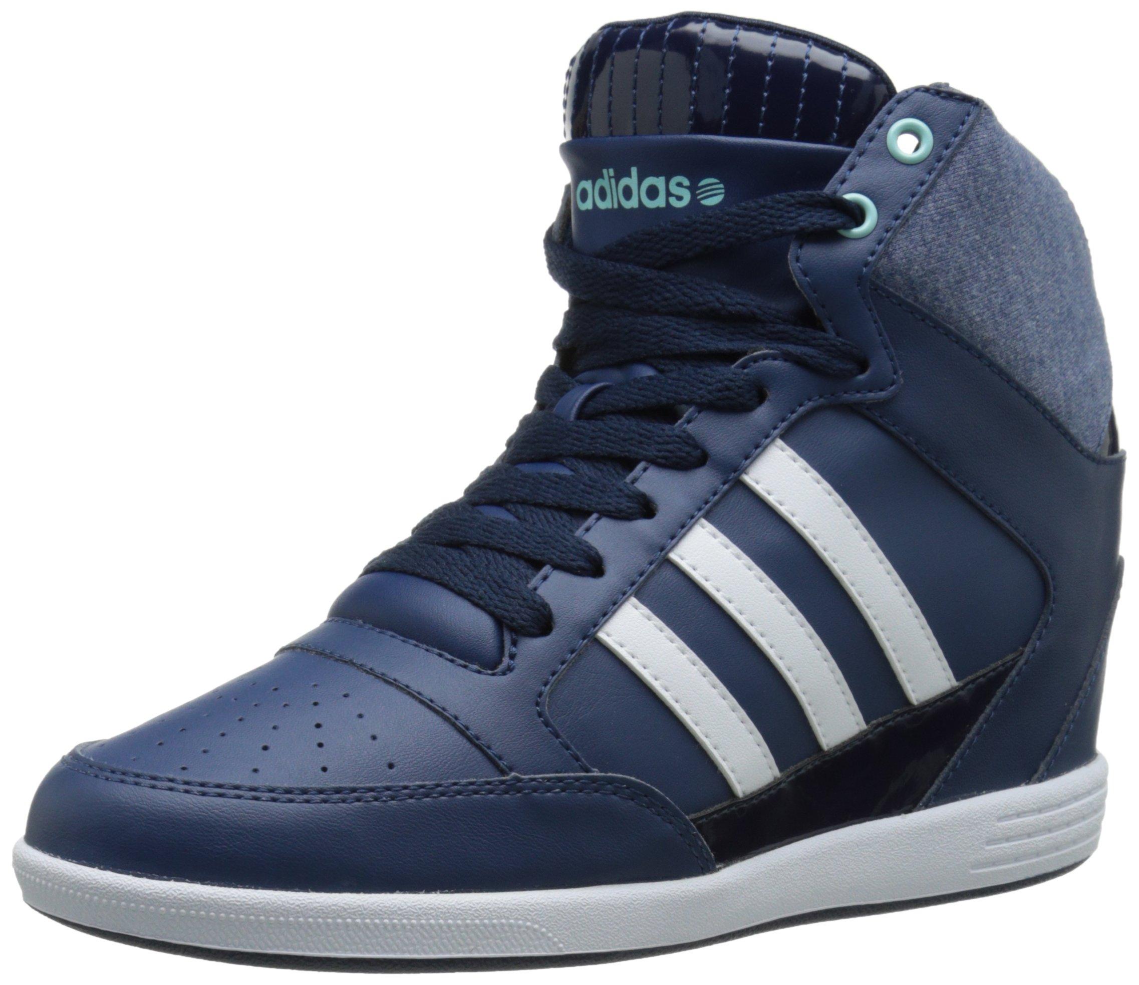 06de0ccb1b1d6 Galleon - Adidas NEO Women's Super Wedge W High-Top Fashion Sneaker, Blue/  White/ Light Blue, 8 M US