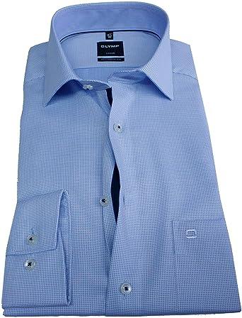 OLYMP Luxor 4887.08.11 - Camisa de manga larga, color azul ...