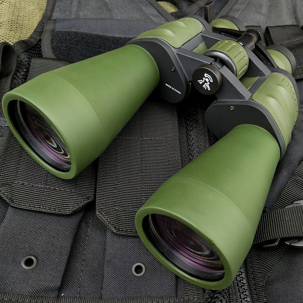 Defender Day/Night 10x-120x90 HUGE MILITARY Power Zoom Hunting BINOCULARS w/Pouch Fishing | with Holt Multi Tool Key Chain