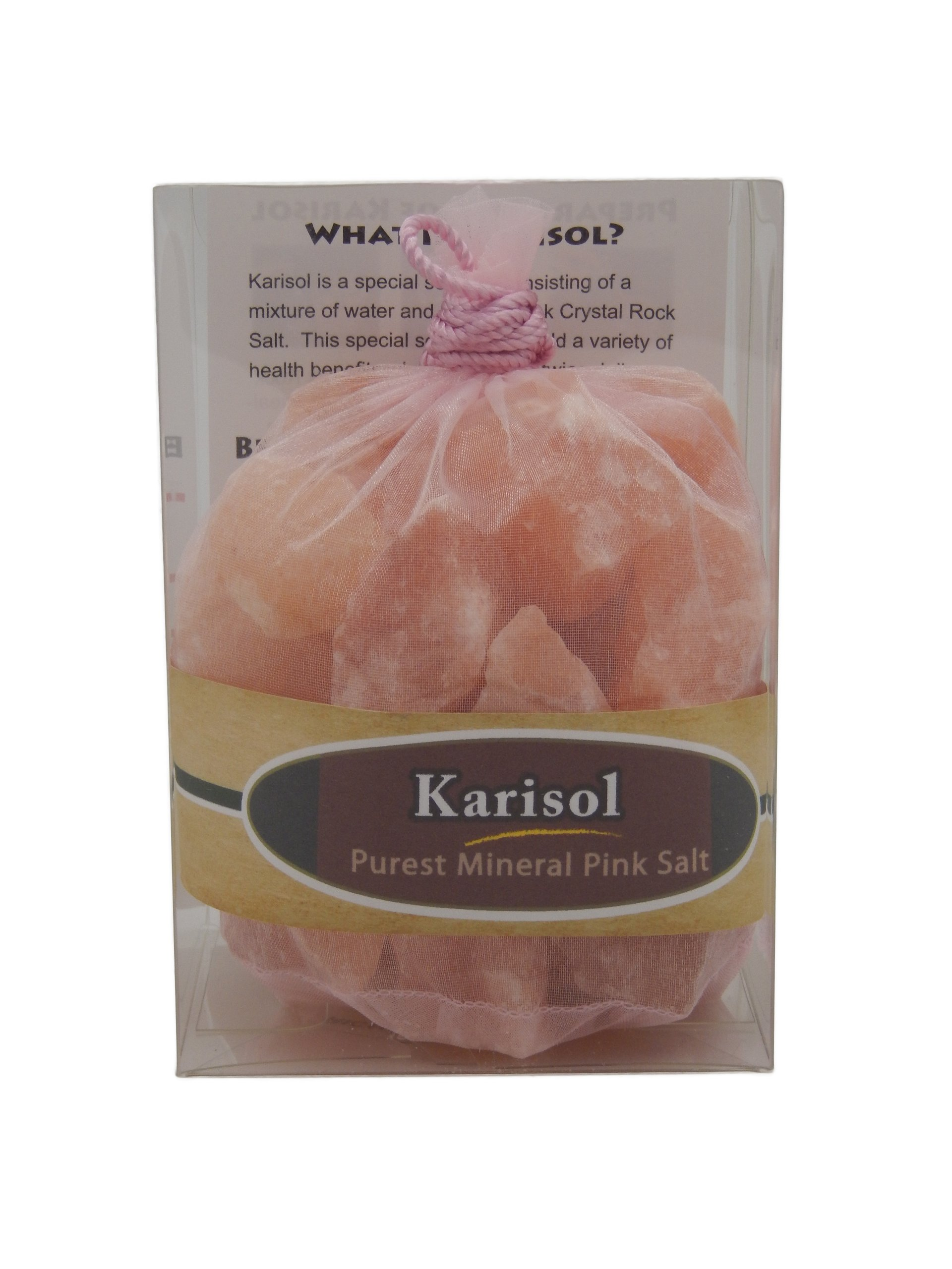 Kmr-454 Karisol 1 Lbs is for Purified Mineral Water. Pink Rock Salt for Alkalizing, Balacing, Ditoxification and Gargling