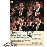$41 » Mike Krzyzewski Signed Magazine Page BAS Beckett NCAA Duke Basketball Coach K - Beckett Authentication