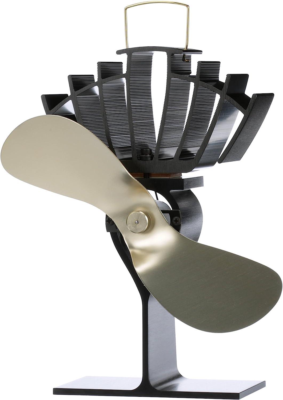 Ventilador Estufa de 4 Cuchillas para Estufa de Le/ña//Estufa//Chimenea Mefine Ventilador para Estufa de Le/ña Calor Accionado Ecol/ógico Operaci/ón Silenciosa