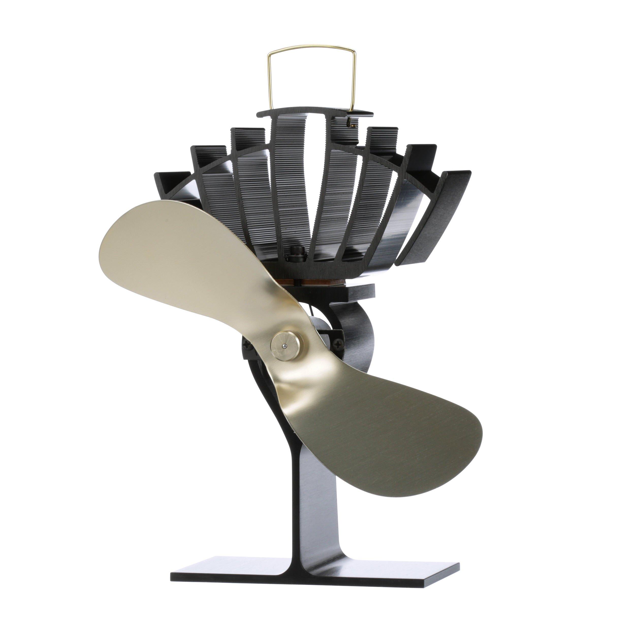 Ecofan UltrAir. Heat Powered Stove Fan. Authentic 2 Blade Canadian Design. Gold by ECOFAN