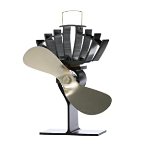 Ecofan UltrAir, Heat Powered Stove Fan, Medium, Gold Blade