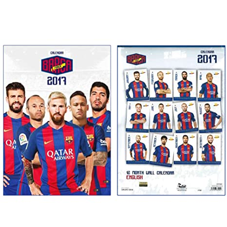 Calendario Barcellona.Calendario 2017 Di Calcio Fc Barcellona Amazon It Sport E