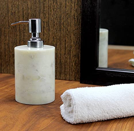 Amazon.com: KLEO Soap Dispenser Lotion Dispenser - Made of Natural Stone - Luxury Bathroom Accessories Bath Set (Grey): Home & Kitchen