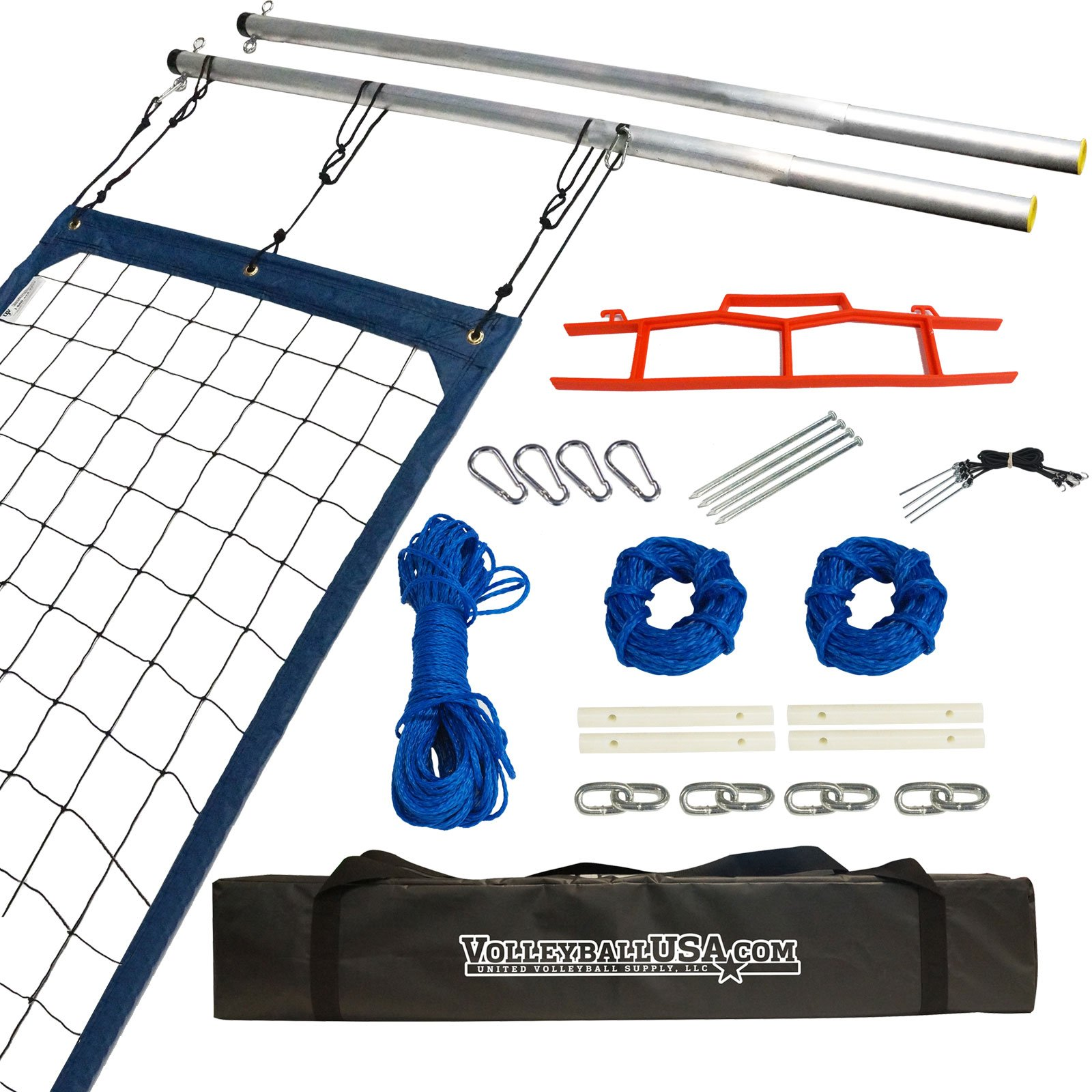 Semi-Serious High Strength Volleyball Net System by United Volleyball Supply