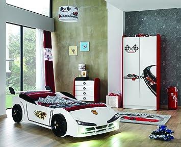Unbekannt Kinderzimmer Racer Speed Woody mit Autobett 3-teilig ...