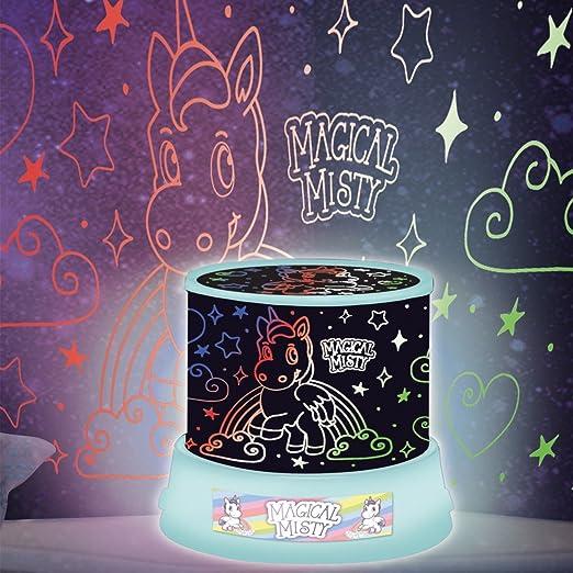Proyector de luz led nocturna de unicornios, decoración de hogar ...