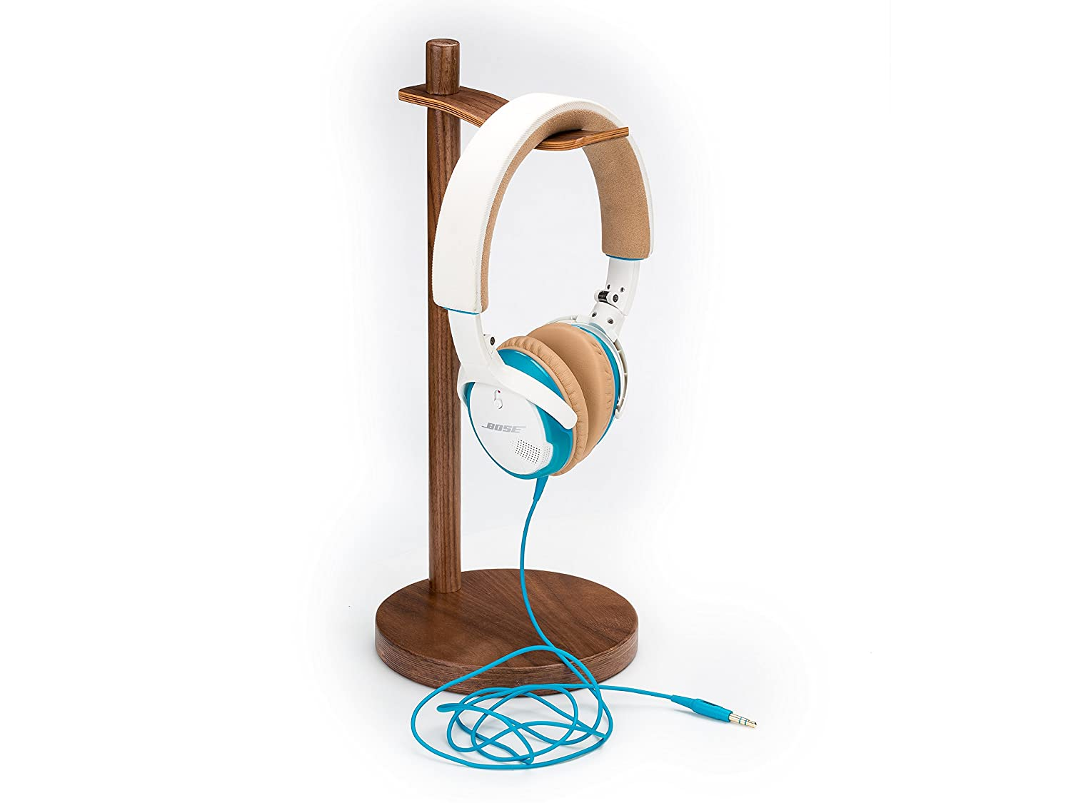 Headphone Stand Headset Holder Wooden, 3 Styles Headphone Hanger Orgnizer Support for All Headphone (Walnut 1) Non-Branded