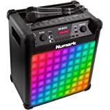 Numark Singmaster, 50 W Bluetooth Full-Range Speaker and Karaoke System with 60 Vocal Settings, Effects, Microphone & Colorful LED Lights