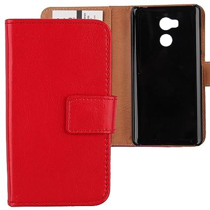 Gukas Flip PU Billetera Design Para Xiaomi Redmi 4 Pro / Prime Funda De Carcasa Cartera De Cuero Case Cover Piel (Rojo)