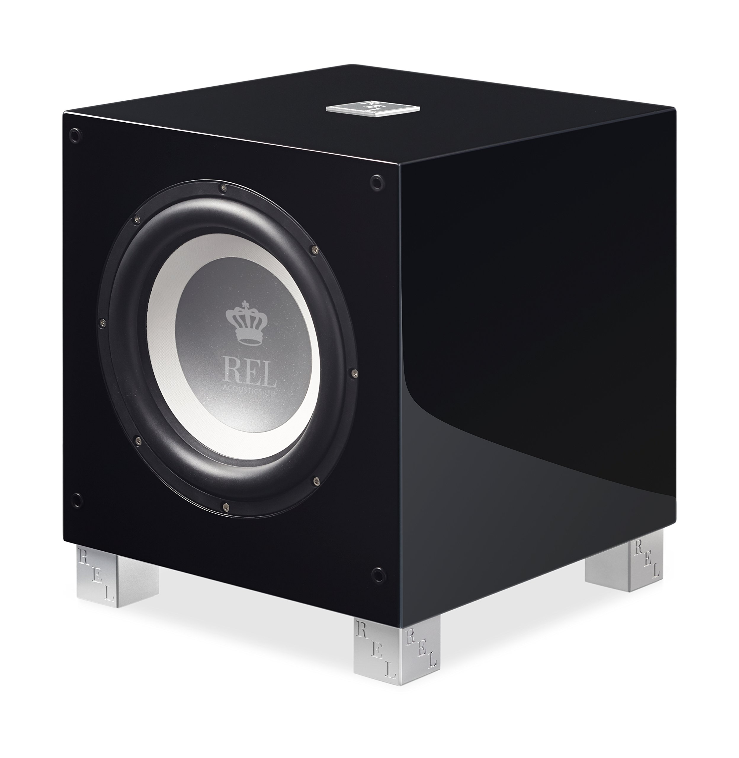 REL Acoustics T/9i Subwoofer, 10 inch Front-Firing Driver, Arrow wireless port, High Gloss Black