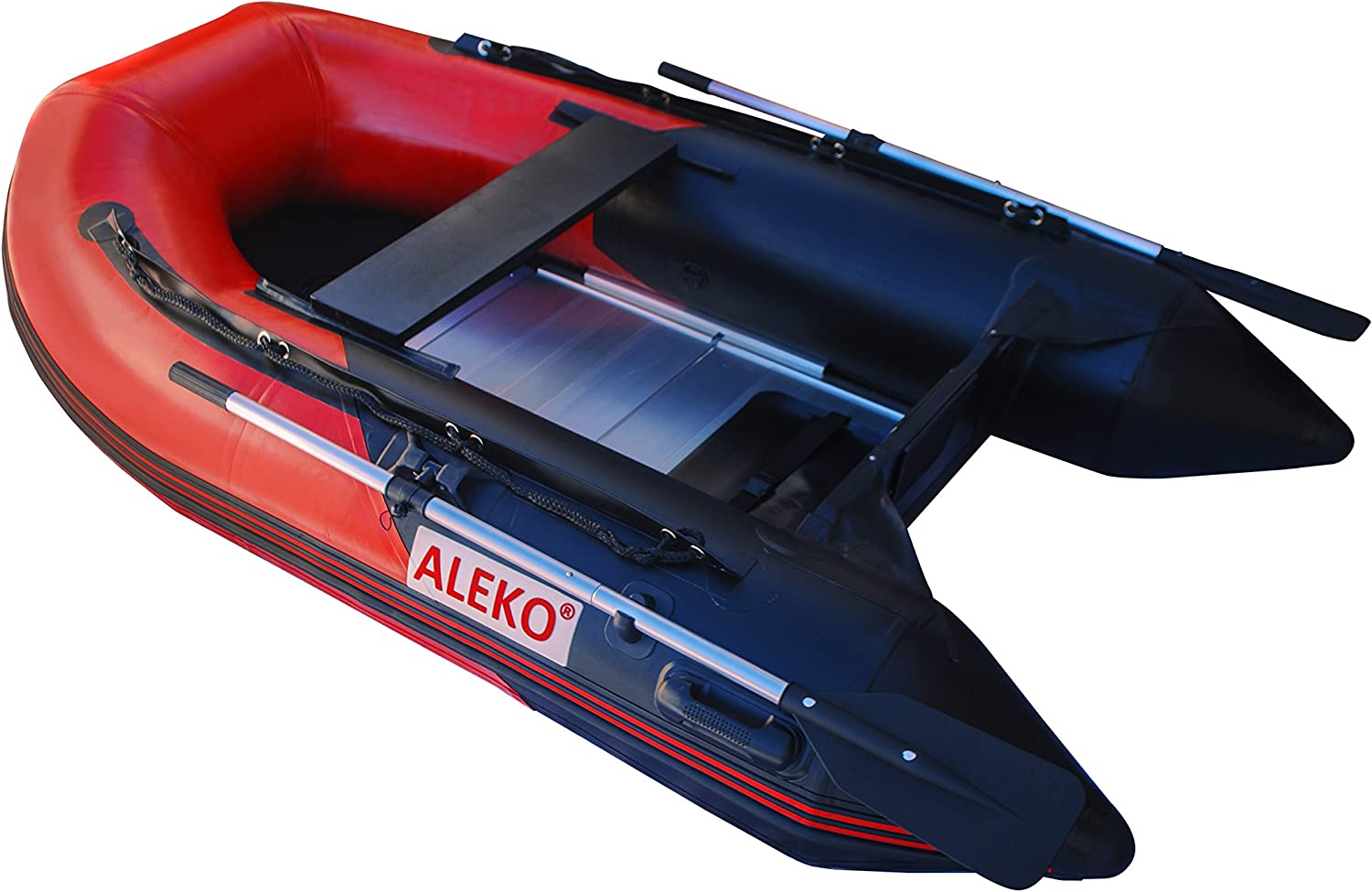 Amazon.com: Aleko hinchable, color rojo y negro barco 8.4 ...