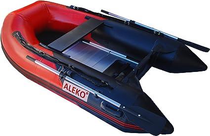 Amazon.com: Aleko hinchable, color rojo y negro barco 8.4 ...