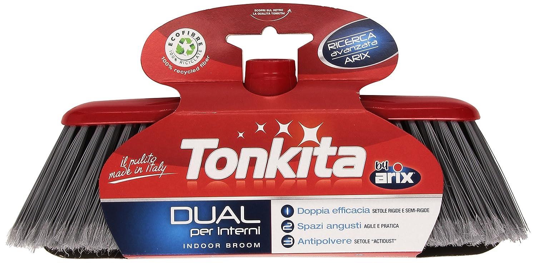 Tonkita - Scopa per Interni Dual, Doppia Efficacia, Spazi Angusti, Antipolvere Arix B2_0158420