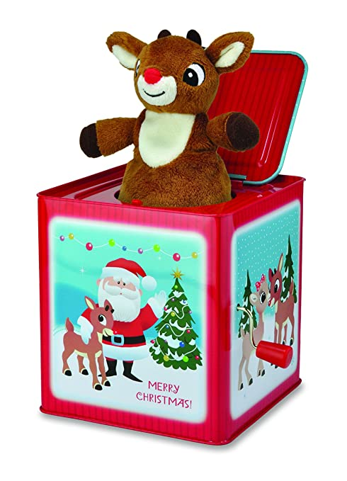 kids preferred rudolph jack in the box toy - Jack In The Box Open On Christmas