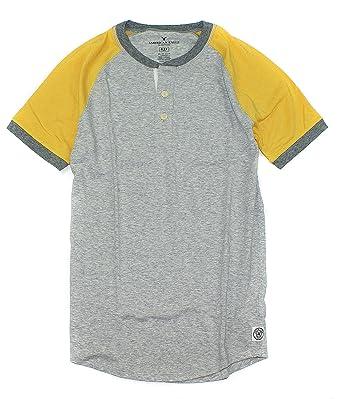 25b95dfdbdd American Eagle Men s Flex Henley Short Sleeve T-Shirt M-5 (X-Small ...