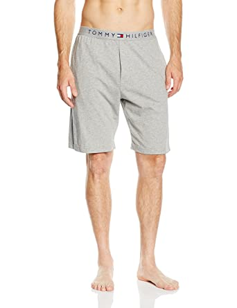 Tommy Hilfiger Icon Cotton Jersey Mens Lounge Shorts, Grey Small