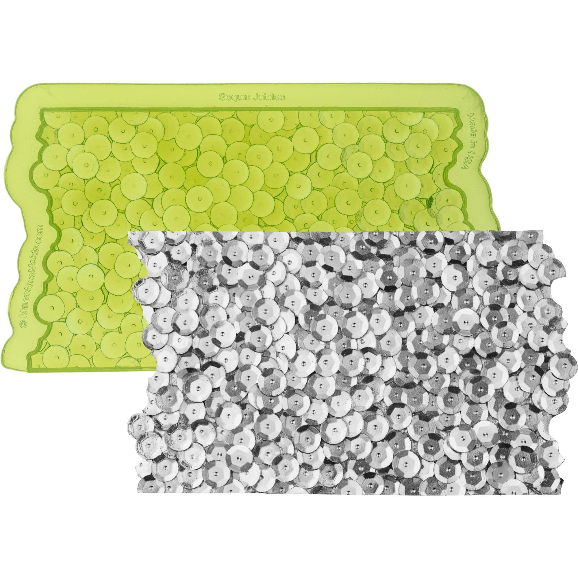 Marvelous Molds Sequin Jubilee Simpress Silicone Mold | Cake Decorating with Fondant and Gumpaste