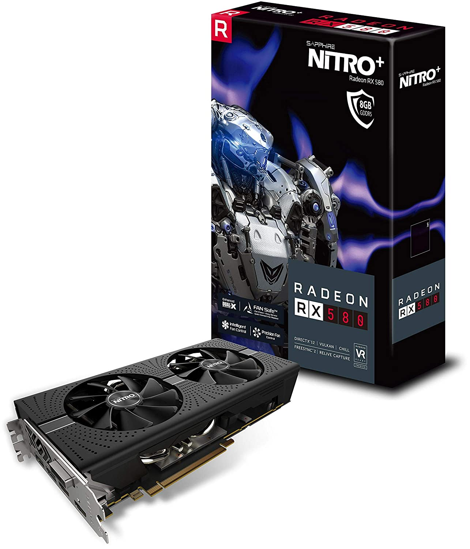 Sapphire RADEON RX 580 NITRO+ Radeon RX 580 8GB GDDR5 ...