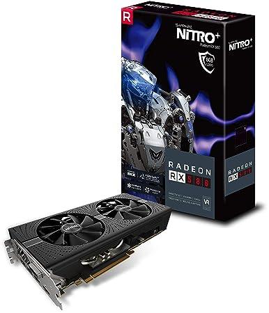 Sapphire 11265-01-20G Radeon Nitro+ Rx 580 8GB GDDR5 Dual HDMI/ DVI-D/ Dual  DP with Backplate (UEFI) PCI-E Graphics Card
