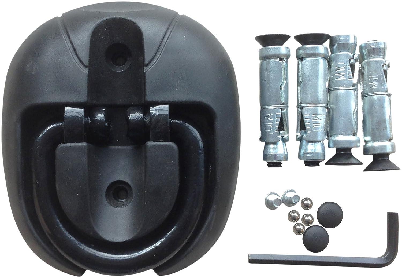 Motocicleta Anclaje Triton Anclaje de seguridad para suelo Negro