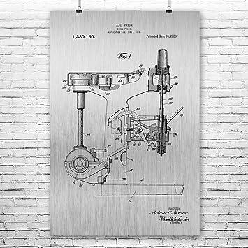 Amazon Com Patent Earth Drill Press Poster Print Handyman