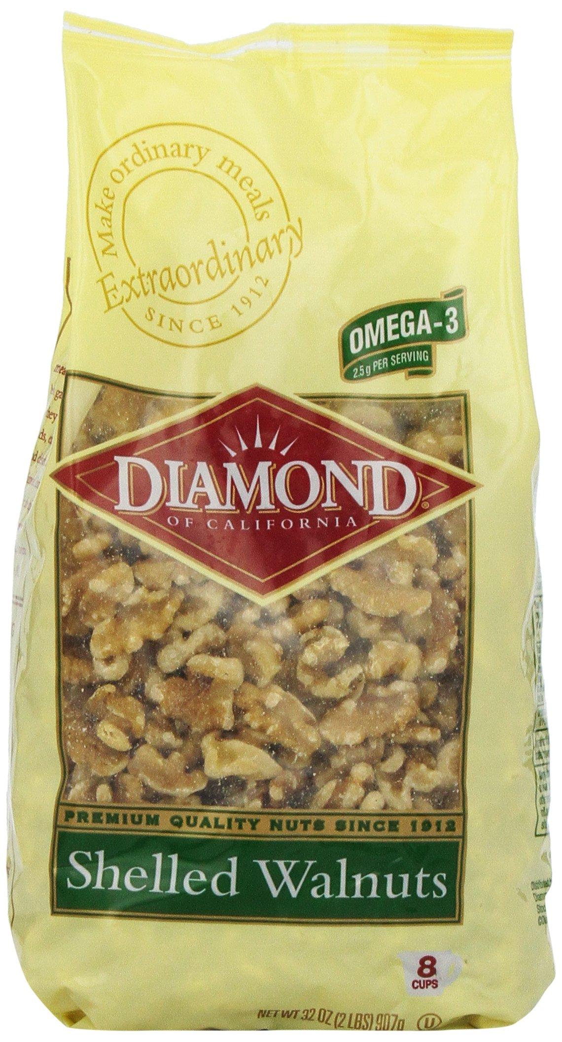 Diamond of California Shelled Walnuts, 32 Ounce