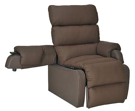 coco riser recliner chair width 44cm depth 55cm brown